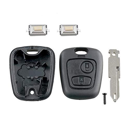 Botones TGBV2, Carcasa remota para Llave de Coche, Funda para Llave con Hoja 206 y 2 microinterruptores Aptos para Peugeot 106206306
