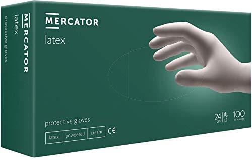 Gepuderte Latex-Handschuhe MERCATOR simple latex XS - XL, Größe:L - 100 Stück
