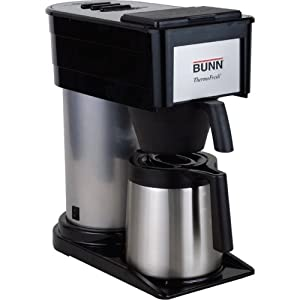 BUNN 10-Cup Thermofresh Home Brewer – 900 W – 10 Cup(s) – Black, Silver – Stainless Steel