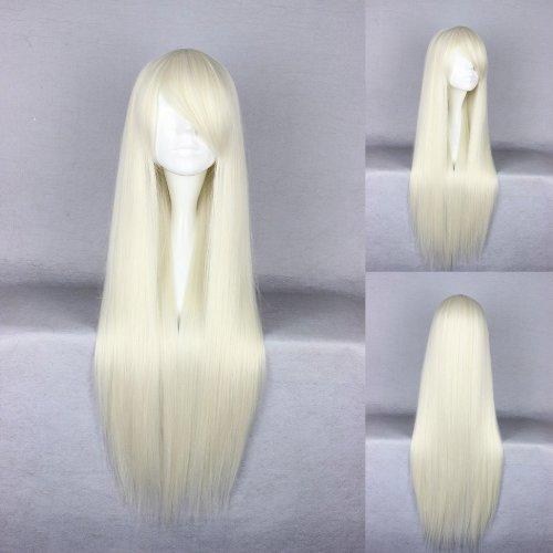 Ladieshair Cosplay Perücke blond 80cm glatt
