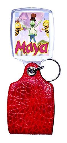 Llavero rojo abeja maya