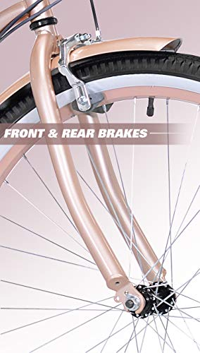 "41U Mw92A9L Kent 26"" Bayside Women's Cruiser Bike, Rose Gold"