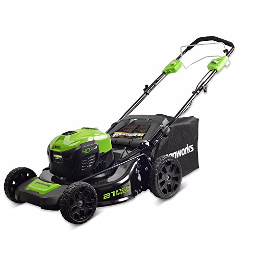 """GreenWorks MO40L02 G-MAX 40V 21"""" Self-Propelled Dual Port Mower, Battery and Charger Not Included"""