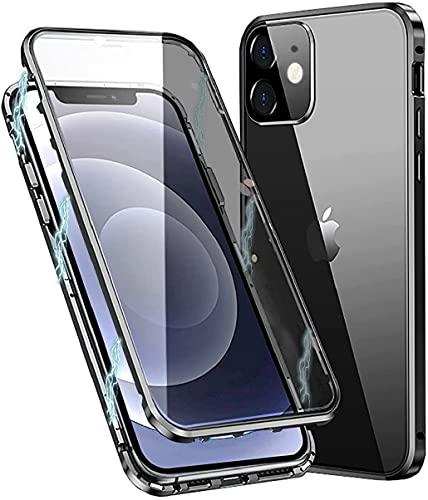 Funda Cristal Templado para iPhone 11,Estructura de Metal de adsorción magnética,[con Protector...