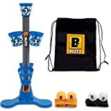 B3 Blitz, Bean Bag and Pong Ball toss Game, Indoor Party Game for Adults and Family: College Bean Bag or Pong toss Game -The Next Generation Pong Game;Game Stand, 5 Buckets 8 Bean Bags 4 Pong Balls