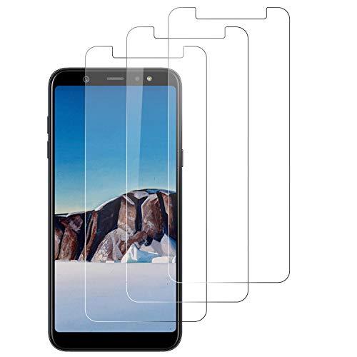 3-Unidades Protector de Pantalla para Samsung Galaxy A6 Plus 2018 Cristal Templado, [9H Dureza][Anti-Arañazos][Kit Fácil de Instalar][Sin Burbujas]Vidrio Templado Screen Protector para Galaxy A6 Plus