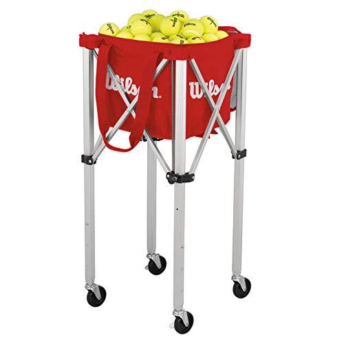 Wilson Ballwagen, Tennis Teaching Cart, für bis zu 150 Bälle, rot, WRZ541000