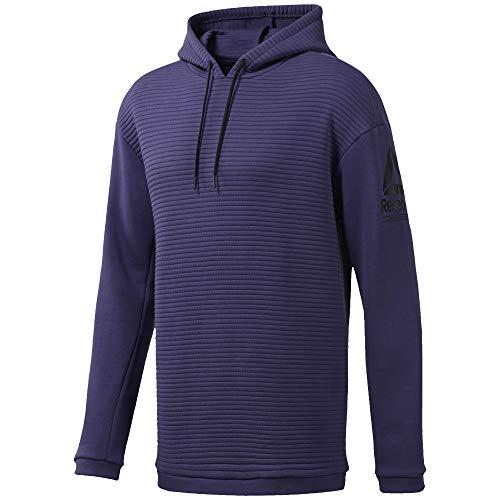 Reebok Męska bluza polarowa z kapturem fioletowy niebieski S