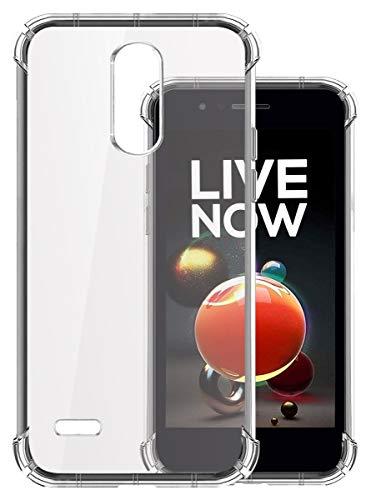 Jkobi Silicon Flexible Shockproof Corner TPU Back Case Cover for LG K9 -Transparent