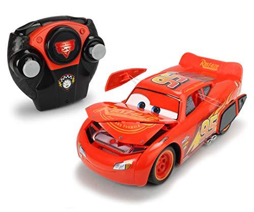 Dickie Toys RC Crash Car Lightning McQueen, Cars 3, ferngesteuertes Auto mit Funksteuerung, Turbo- und Crash Funktion, 17 cm