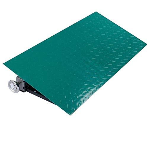 Aparador Feng SZQ-Rampas de umbral de la altura de las rampas de acceso en silla enrollable se puede ajustar, estacionamiento de garaje, almacén, alfombra, verde rieles de antideslizantes, rampas, metal, verde, 80*40*12~22CM