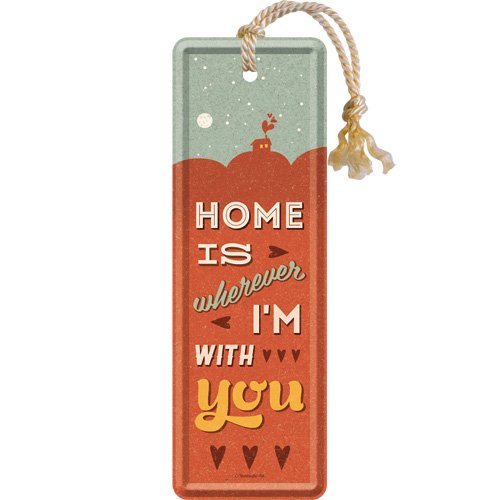 Nostalgic Art 45037 Word up – Home is Wherever I' m With You, Segnalibro 5 x 15 cm