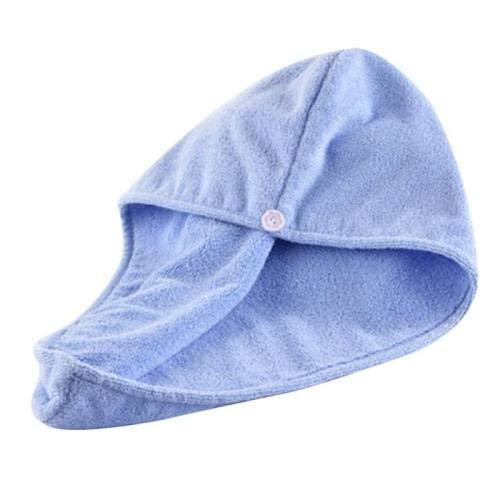 JLERA droge hoed voor dames, drooghoed, drooghoed, drooghoed, drooghoed, droog, turban, sneldrogende handdoek met ring en knop voor badkamer, spa