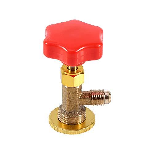 Refrigerante del aire acondicionado, adaptador del aire acondicionado M14/1/4'abrelatas automático de la válvula de la llave del grifo para R134a
