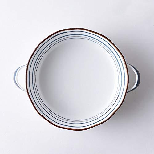 Keramikschale Keramik Salatschüssel Gemüse Obst Angelschüssel Frühstück Suppe Schüssel Große Nudelschale Binaural Creative Bowl Milchschüssel