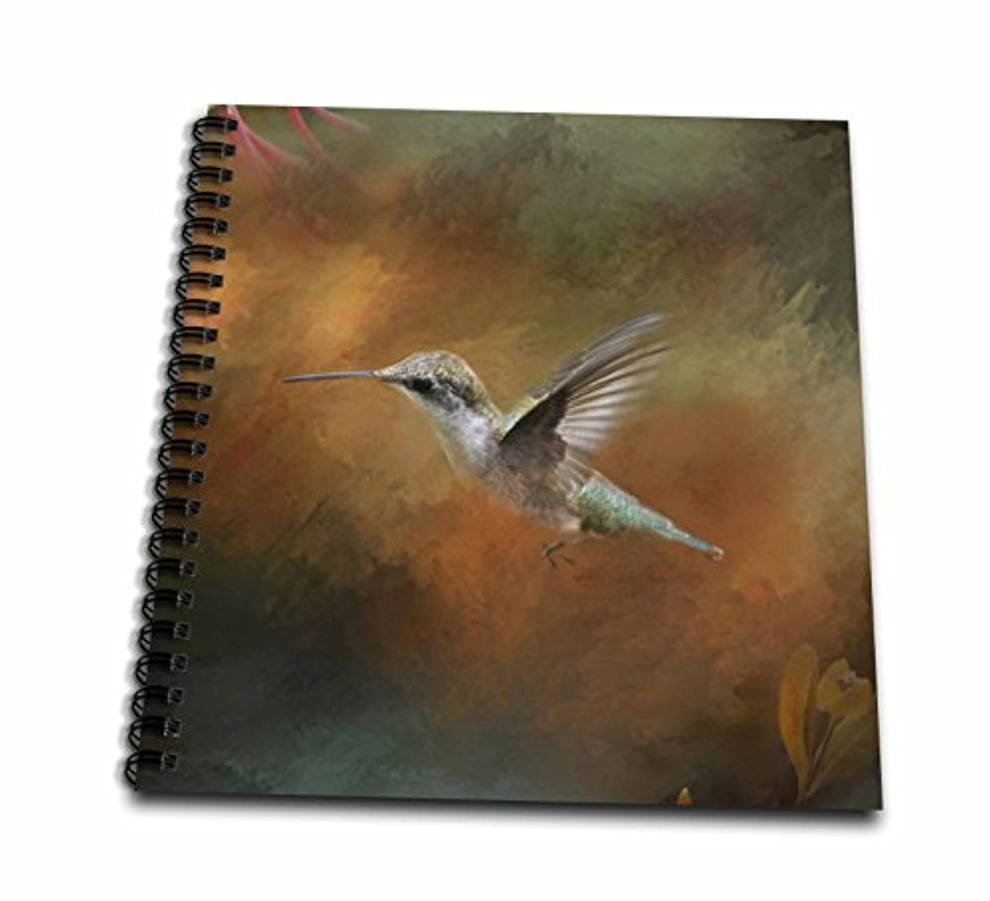 3dRose db_79486_2 Hummingbird Old Master Fine Art Floral Iii-Memory Book, 12 by 12-Inch