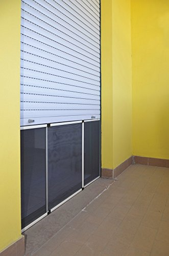 VERDELOOK Zanzariera Estensibile per finestre - Dimensioni 50x70, Colore Silver