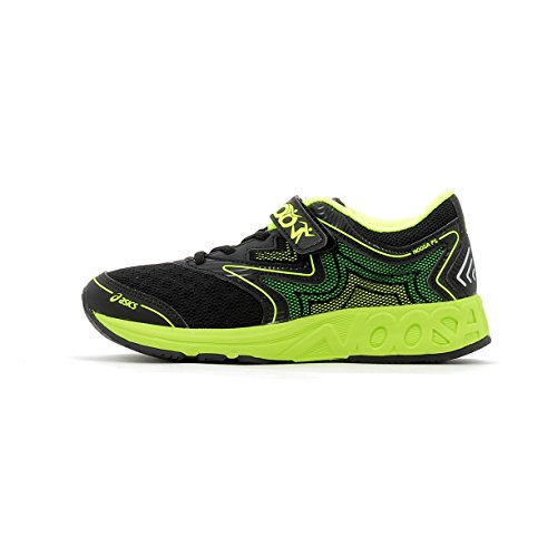 ASICS Noosa 12 - Laufschuhe Neutral - Black/Safety Yellow/Green Gecko