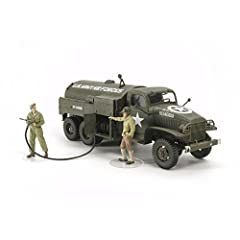 Vinyl tubing is used to recreate the fuel hose Figures depicted in the act of refueling 1/48 Scale Fuel Truck