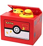 TOYSBBS Limited Edition Creative Pikachu Automated Stealing Piggy Bank Toy Coin Bank Money Banks Coin Can for Kids