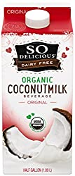 So Delicious Dairy-Free Organic Coconutmilk Beverage, Original, 64 Ounce Plant-Based Vegan Dairy Alt