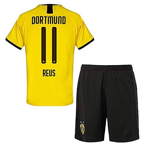 VV-RT STAR 19/20 Saison (Heim - Auswärts) Borussia Dortmund Fussball Trikot & Shorts & Socken #11 Marco Reus Fußball Trikot für Kinder Herren Erwachsen