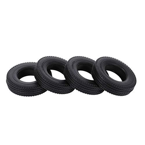 ACEHE Neumáticos Gruesos, 4 Piezas de neumáticos de Goma neumáticos Gruesos para 1/14 instalación Directa de camión de Remolque de Coche RC Profesional