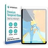 smartect Cristal Templado para Móvil Apple iPad Pro 2018 (11.0) [MATE] - Protector de pantalla 9H - Diseño ultrafino - Instalación sin burbujas - Anti-huella