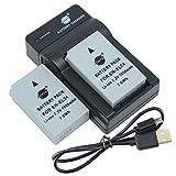 DSTE EN-EL24 - Batería y cargador para cámara Nikon 1 J5 (2 unidades)