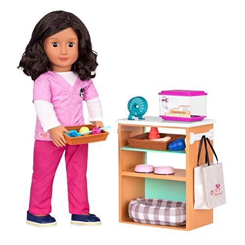Our Generation- Accesorios muñeca - tienda de mascotas, Color (Battat BD37433Z) , color/modelo surtido