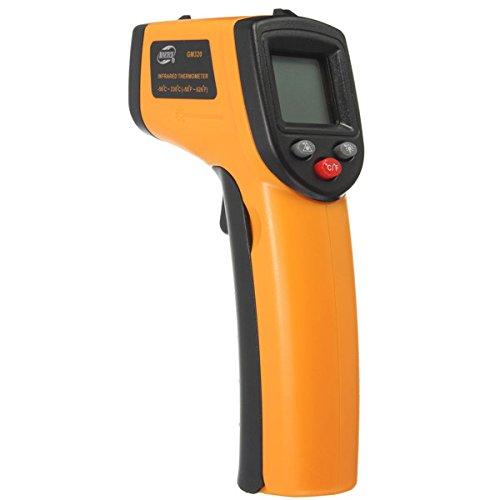 BENETECH GM320 - Termómetro digital infrarrojo con pantalla láser LCD sin contacto