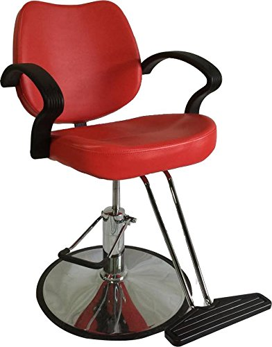 Classic Hydraulic Styling Barber Chair Salon Equipment Hair Beauty Supply - DS/SC-3001-red