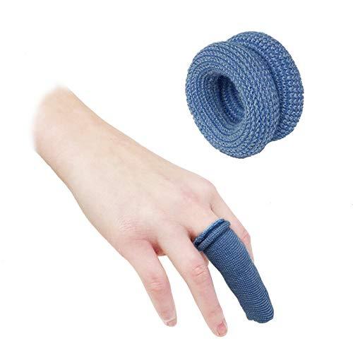 TOOLSTAR 10 Stück Fingerbandage, Erste-Hilfe-Tublar Bandage Fingerbobs Kinderbettchen Buddies Verbände 15 x 600 mm zur Verwendung unter einem Fingerbett (10 Stück blau)
