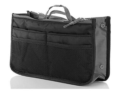 NOVAGO Handtaschenordner, Einlage, Einsatz 12 Taschen groß 28x17x8cm (Schwarz)