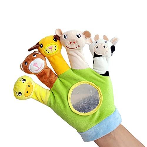 YSJJRGN Marionetas de Mano Baby Hand Puppet Peluche Toys Paño Infantil Pájaros de los Dedos Jugando Animal Peluche Juguetes para Niños (Color : Green)