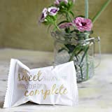 WeddingTree 60 x Glückskekse Hochzeit einzeln verpackt - Glückskekse mit Sprüchen deutsch - Gastgeschenk für Hochzeit und Verlobung - Made in Germany - 3