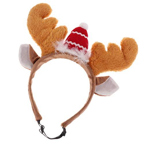 perfk Rentiergeweih Haarreif Stirnband Kopfband für Weihnachten Party