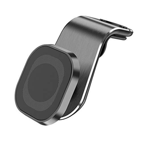 IPOTCH Soporte Universal para teléfono móvil Soporte magnético para Coche Manos Libres 5 imanes Fuertes para Salida de Aire automática la mayoría de los