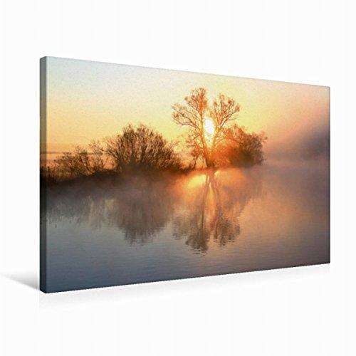 Premium Textil lienzo 75 cm x 50 cm horizontal, un motivo del calendario místico Momente – Nebulización en el reloj de pared, imagen sobre luz y colores suaves (CALVENDO Natur);CALVENDO Naturaleza