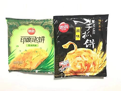 思念原手抓餅 【2種類口味セット】インド風味ネギパンケーキ 原味450g×1点 葱油風味300g×1点