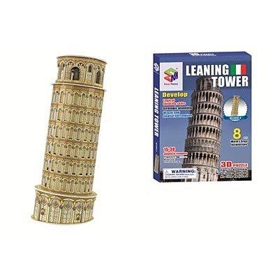 ZRW 3d rompecabezas de la torre inclinada de Pisa modelo para los niños y los juguetes educativos para adultos (8pcs)