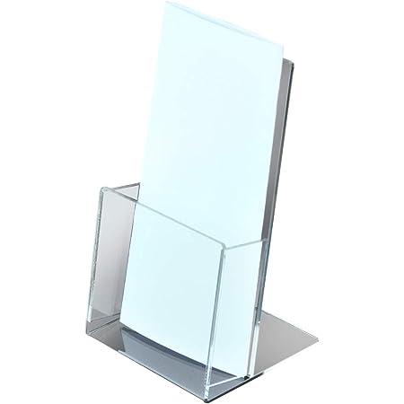 パンフレットスタンド/リーフレットケース/カタログケース/カタログスタンド (クリア, A4三つ折り)