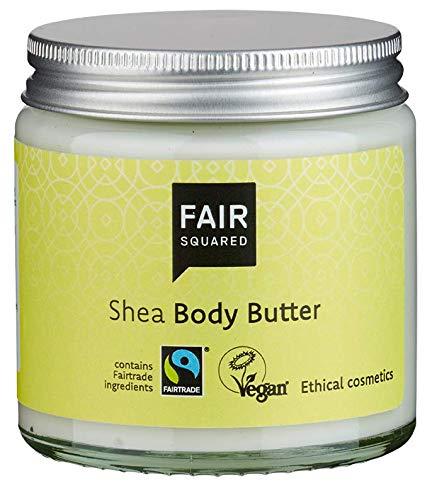 FAIR SQUARED Body Butter Shea 100 ml Körperbutter - für trockene Haut - vegane Naturkosmetik - Zero Waste