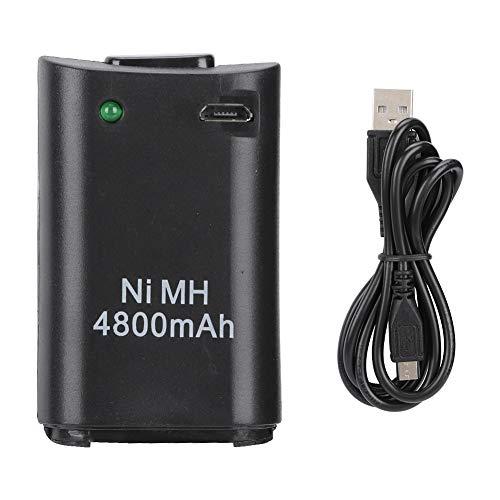 Gamepad Battery, 2-in-1 4800mAh Recargable Gamepad Ni-MH Battery para Xbox 360 Controller Console
