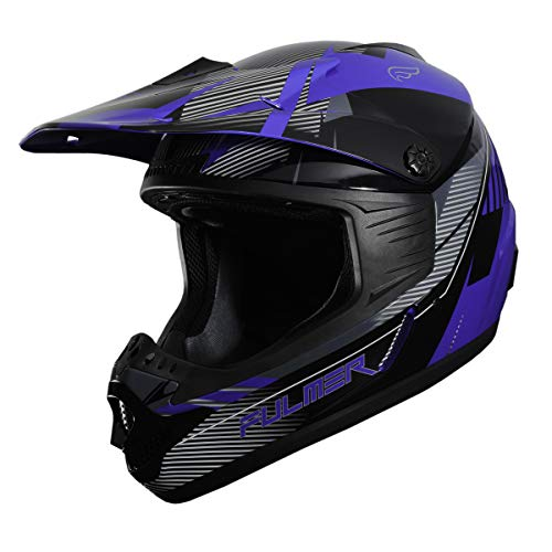 Fulmer, 2021125, Fulmer Edge Adult MX Helmet DOT Approved - Blue, XL