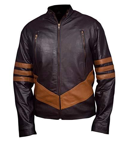 Feather Skin Jacke Männer X-Men Wolverine Leder Jacke-L