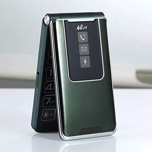 WEUN Teléfono Celular Desbloqueado, Pantalla táctil de Asistencia de Voz Completa, teléfono móvil abatible, para Personas Mayores