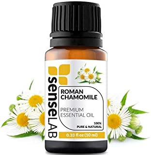 Roman Chamomile Essential Oil by SenseLAB 100% Pure Essential Oil, Natural and Undiluted, Therapeutic Grade Essential Oil 10ml Chamomile Oil