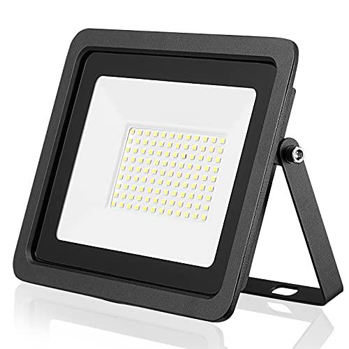 Projecteur d'extérieur LED Projecteur 10W 20W 30W 50W 100W Applique murale réflecteur IP68 éclairage de jardin étanche(Blanc froid, 10W)