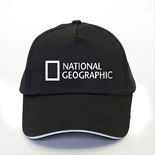 ZZDGFC Mode National Geographic Discovery Hommes Casquette De Baseball Summer Outdoor Adventure Snapback Hat Noir